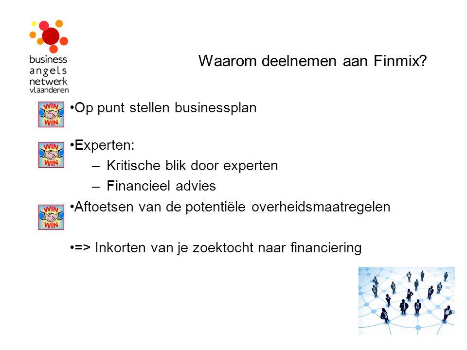 Waarom deelnemen aan Finmix