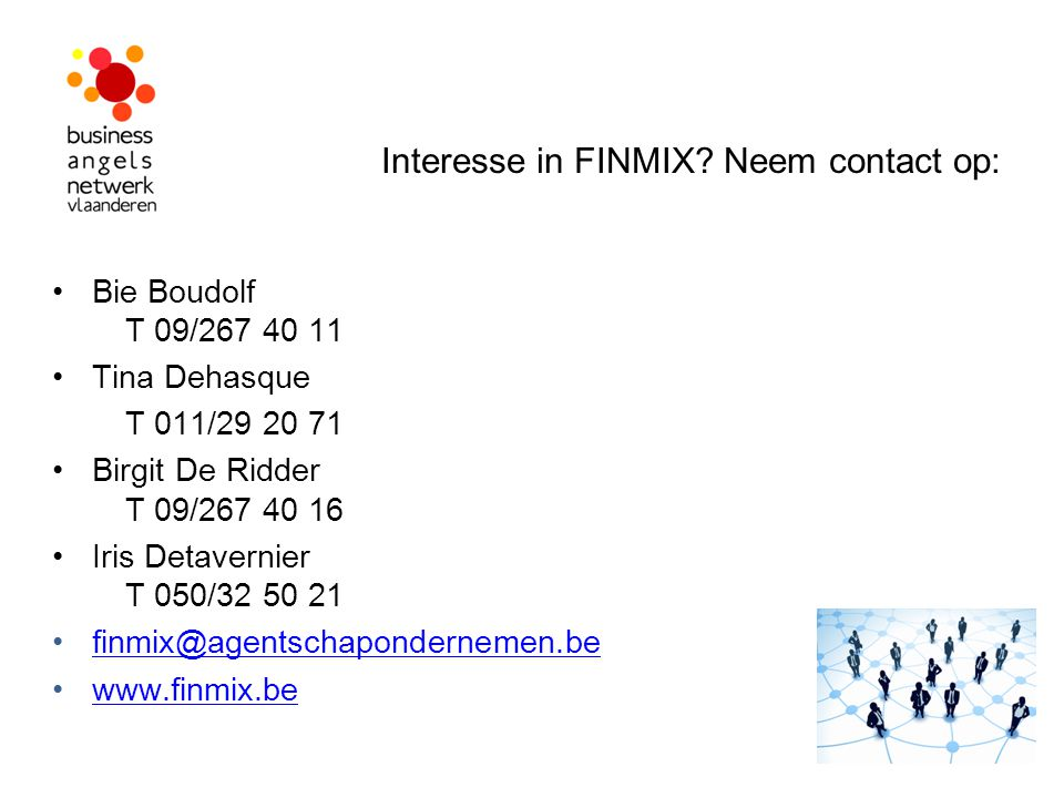 Interesse in FINMIX Neem contact op: