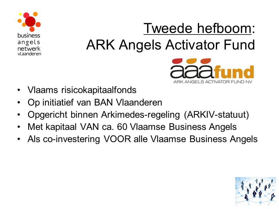 Tweede hefboom: ARK Angels Activator Fund