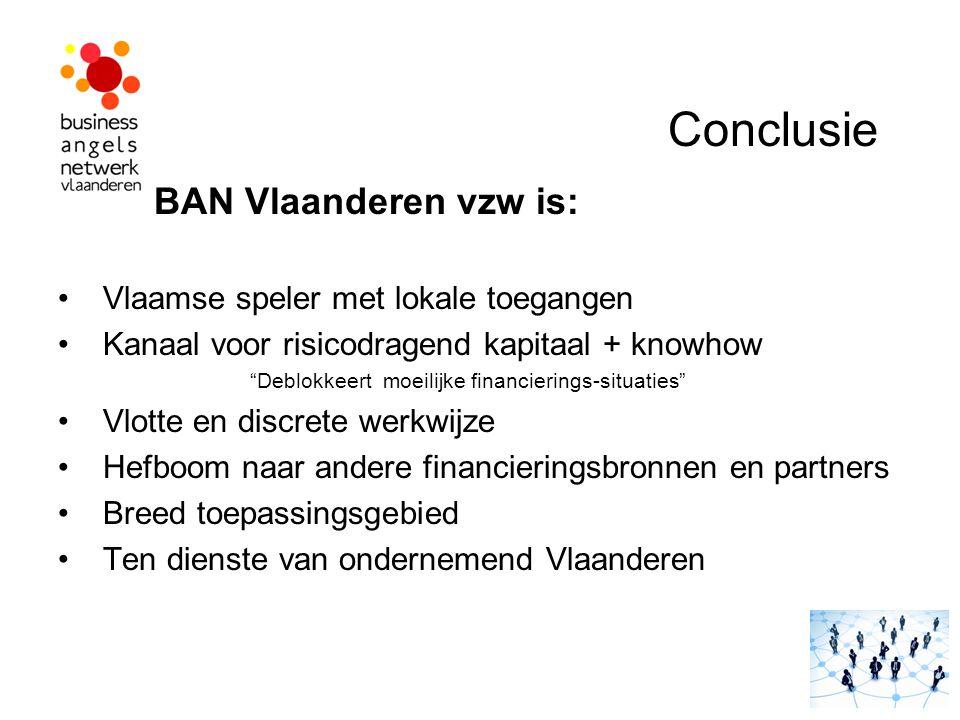 Conclusie BAN Vlaanderen vzw is: Vlaamse speler met lokale toegangen