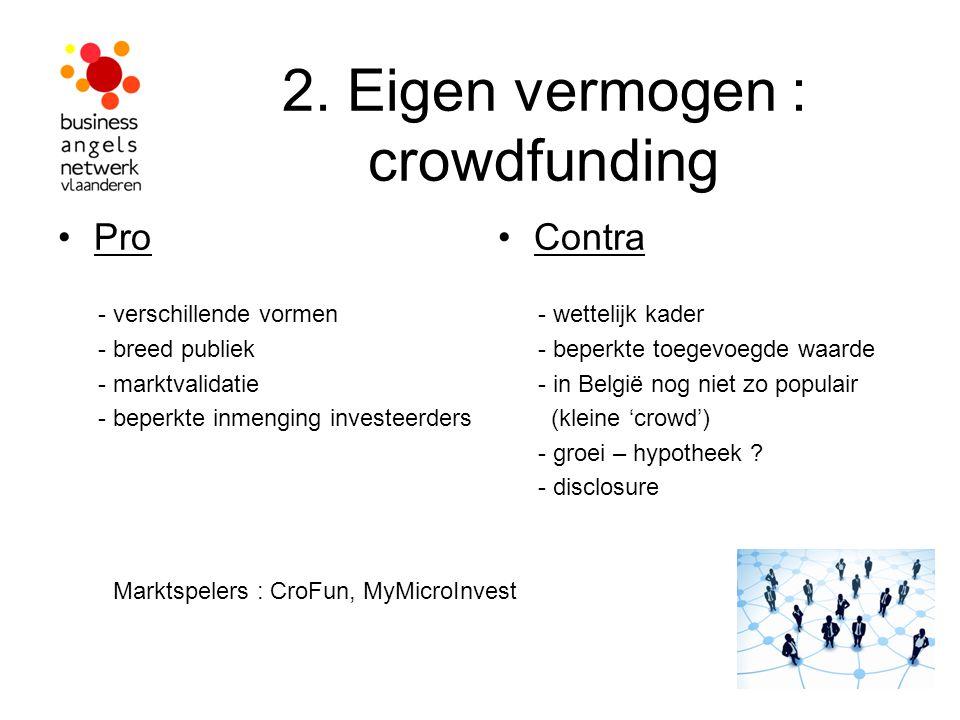 2. Eigen vermogen : crowdfunding