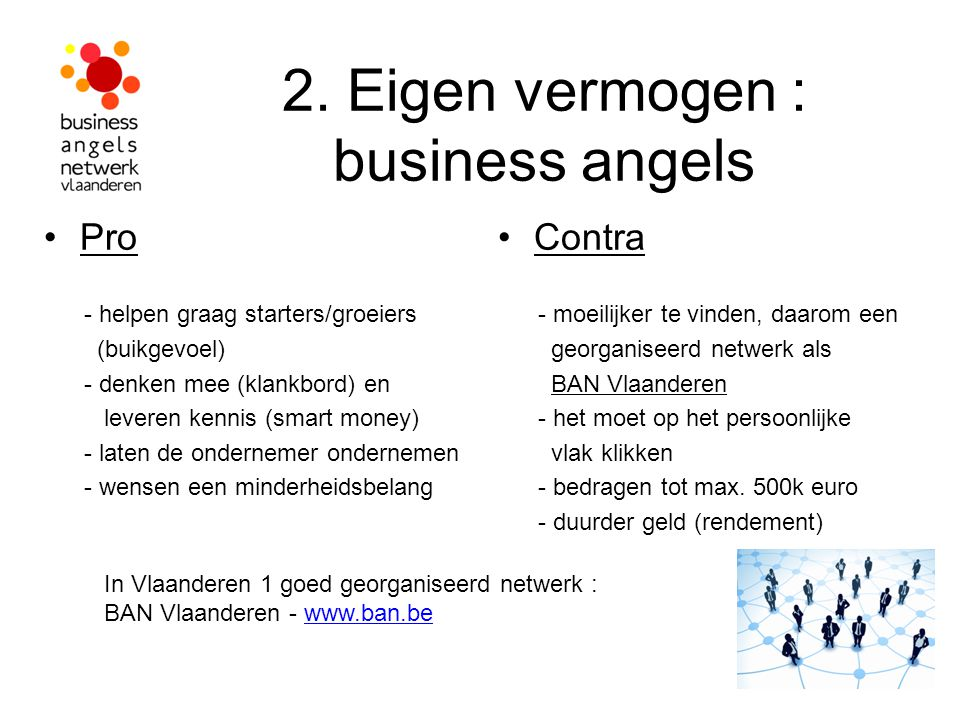 2. Eigen vermogen : business angels