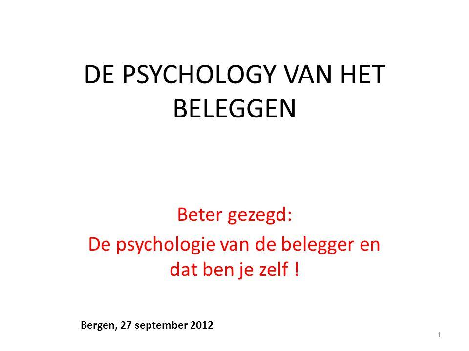 DE PSYCHOLOGY VAN HET BELEGGEN