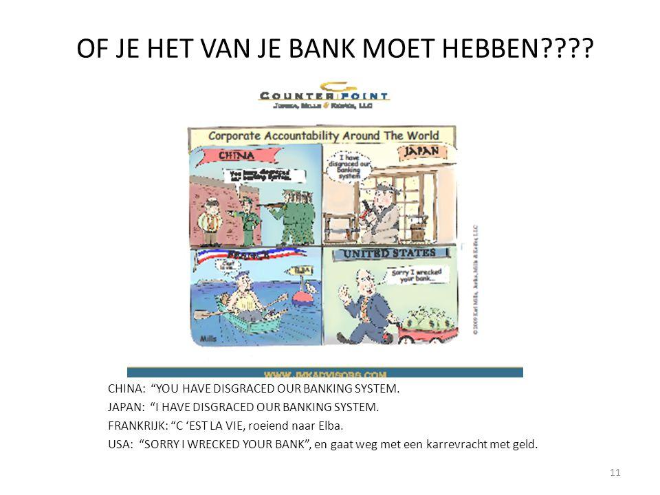 OF JE HET VAN JE BANK MOET HEBBEN