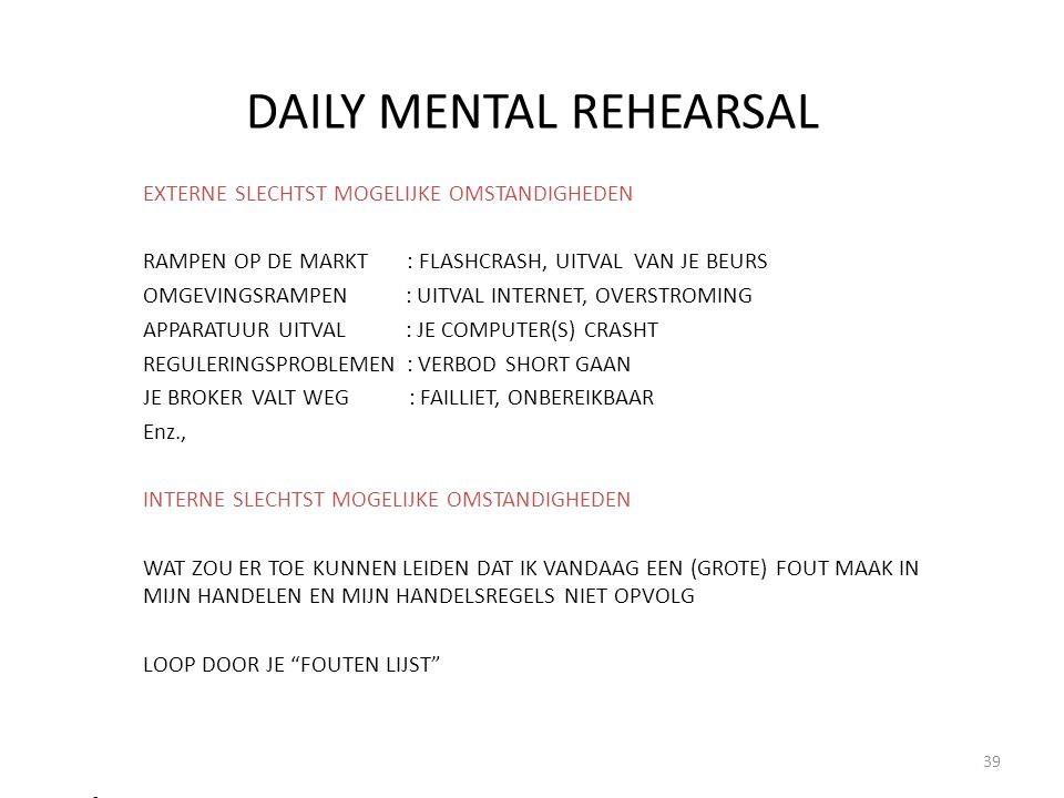 DAILY MENTAL REHEARSAL