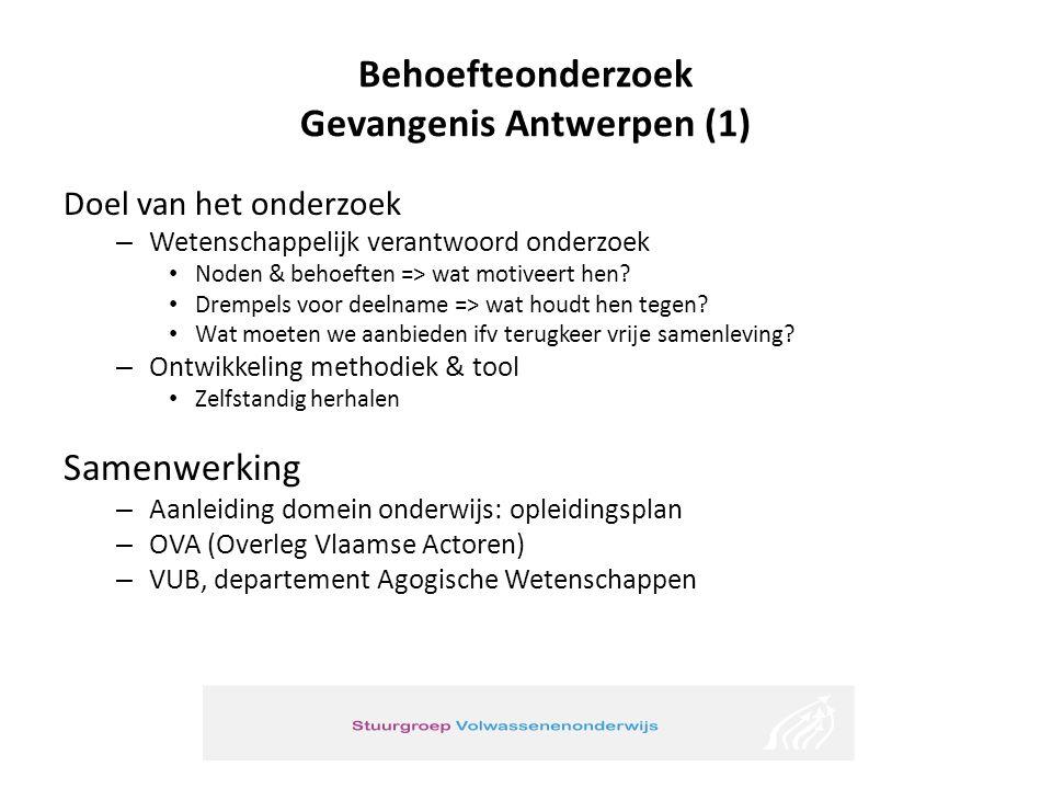Behoefteonderzoek Gevangenis Antwerpen (1)