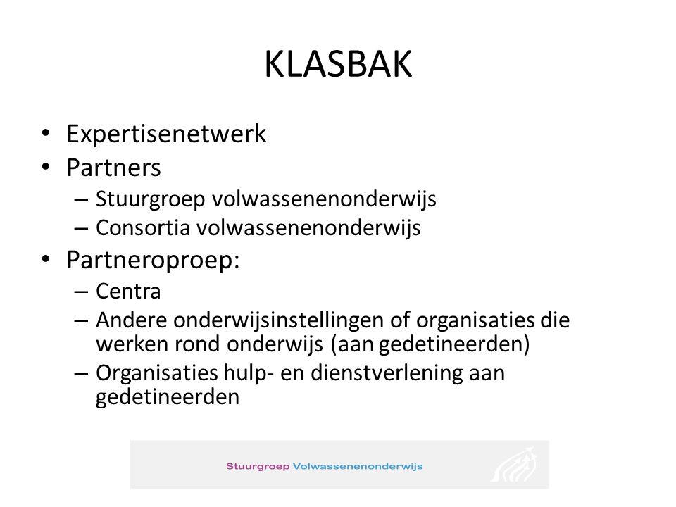 KLASBAK Expertisenetwerk Partners Partneroproep: