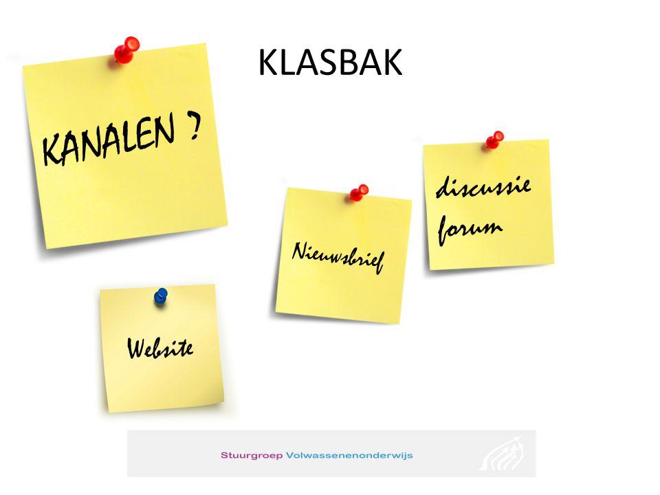 KLASBAK KANALEN discussieforum Nieuwsbrief Website