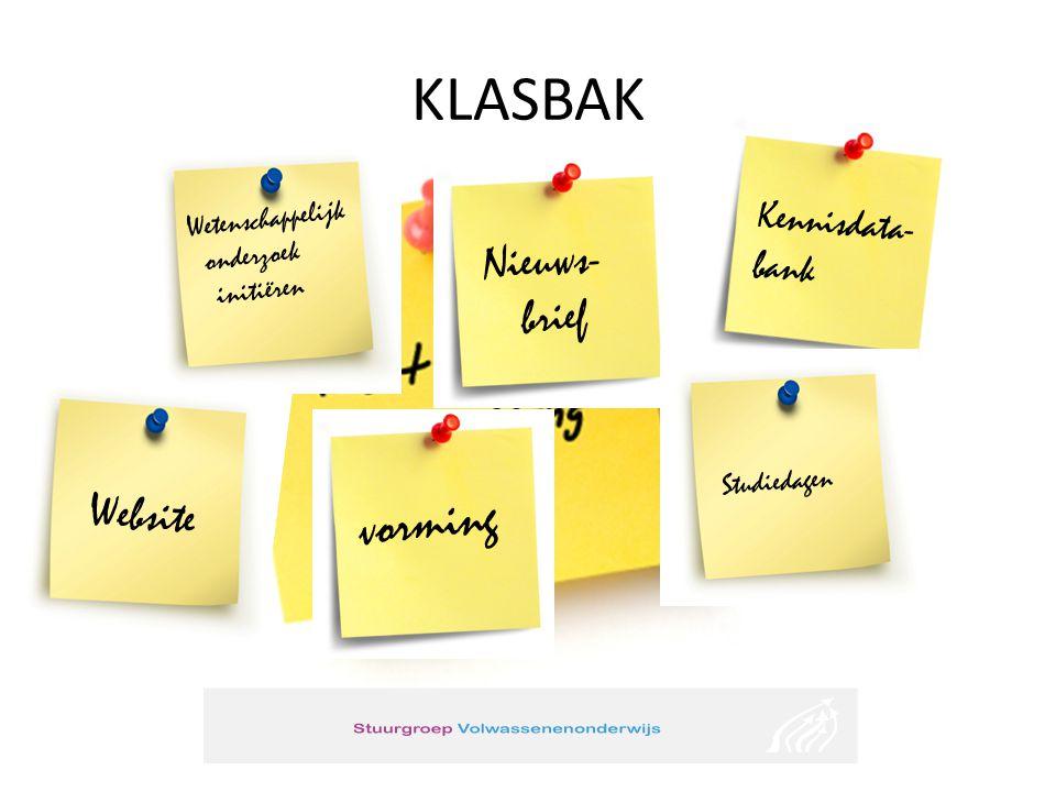 KLASBAK vorming Nieuws- brief Website Kennisdata- bank
