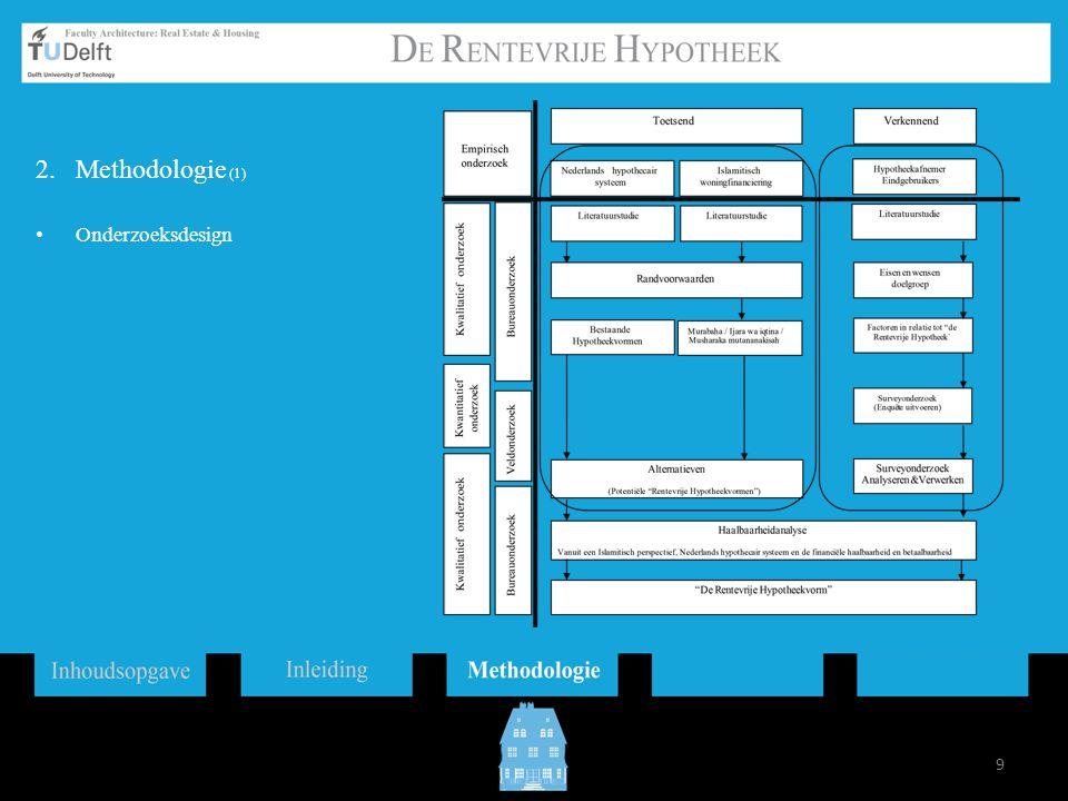 Methodologie (1) Onderzoeksdesign