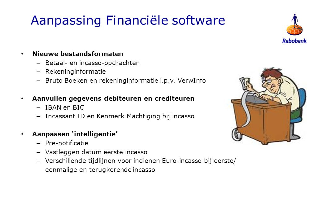 Aanpassing Financiële software