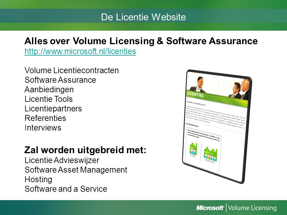 Alles over Volume Licensing & Software Assurance