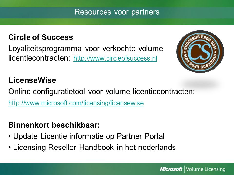 Resources voor partners