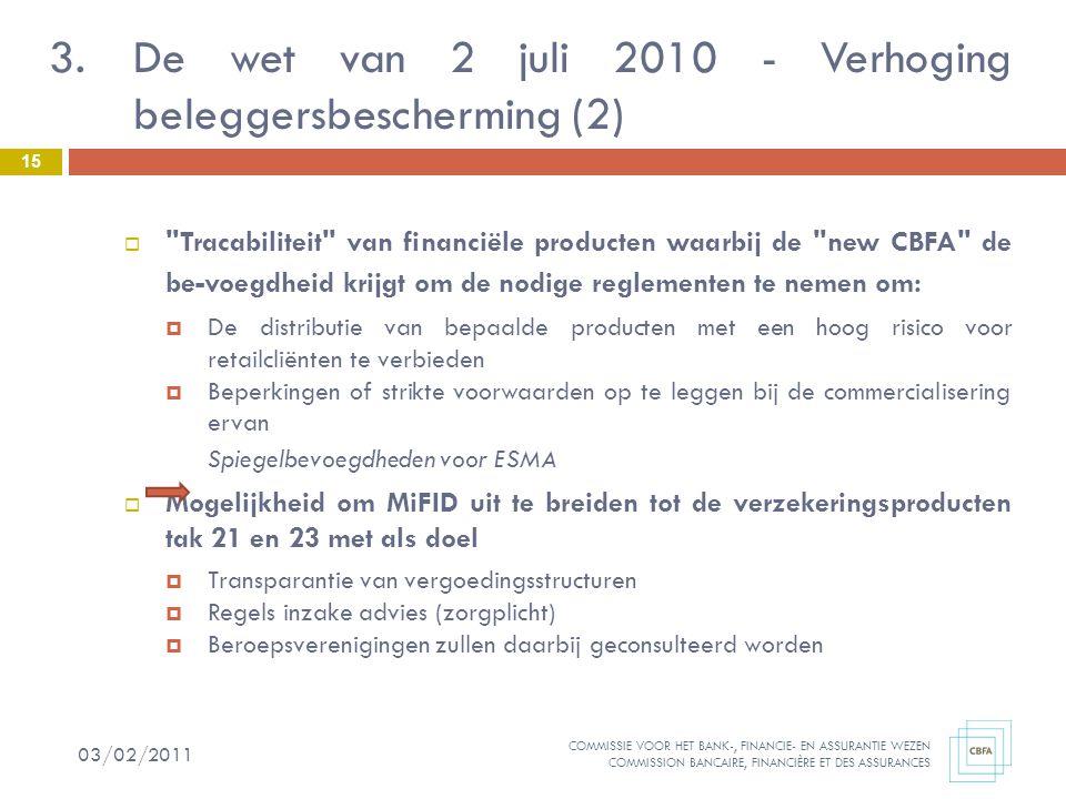 De wet van 2 juli 2010 - Verhoging beleggersbescherming (2)