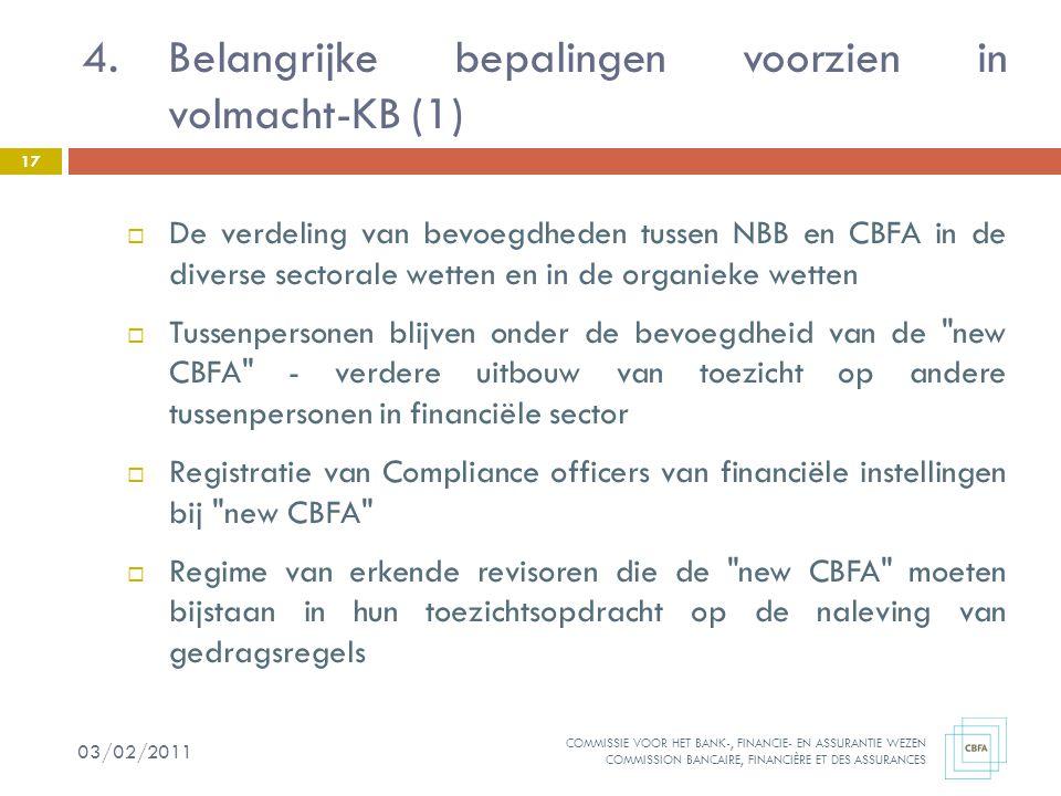 Belangrijke bepalingen voorzien in volmacht-KB (1)
