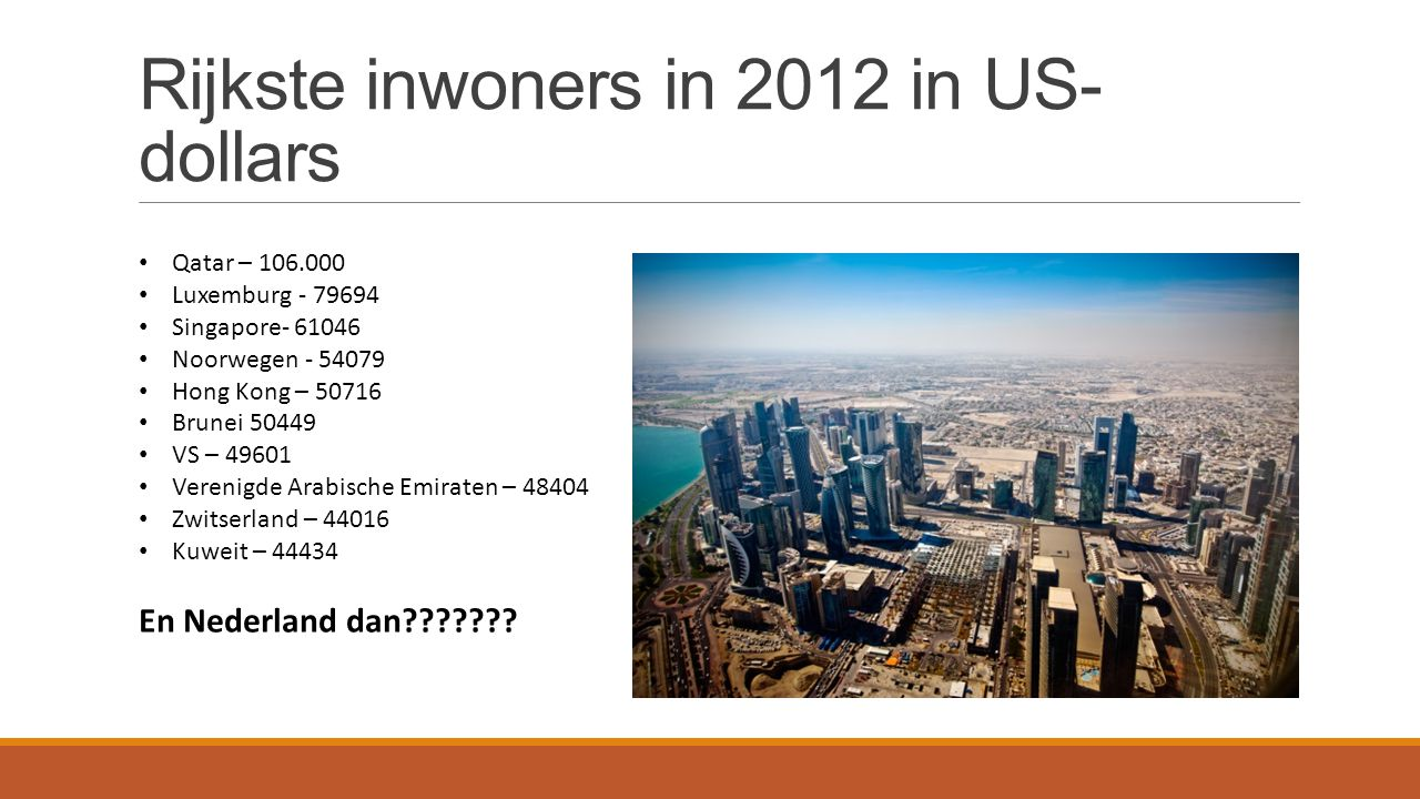 Rijkste inwoners in 2012 in US-dollars