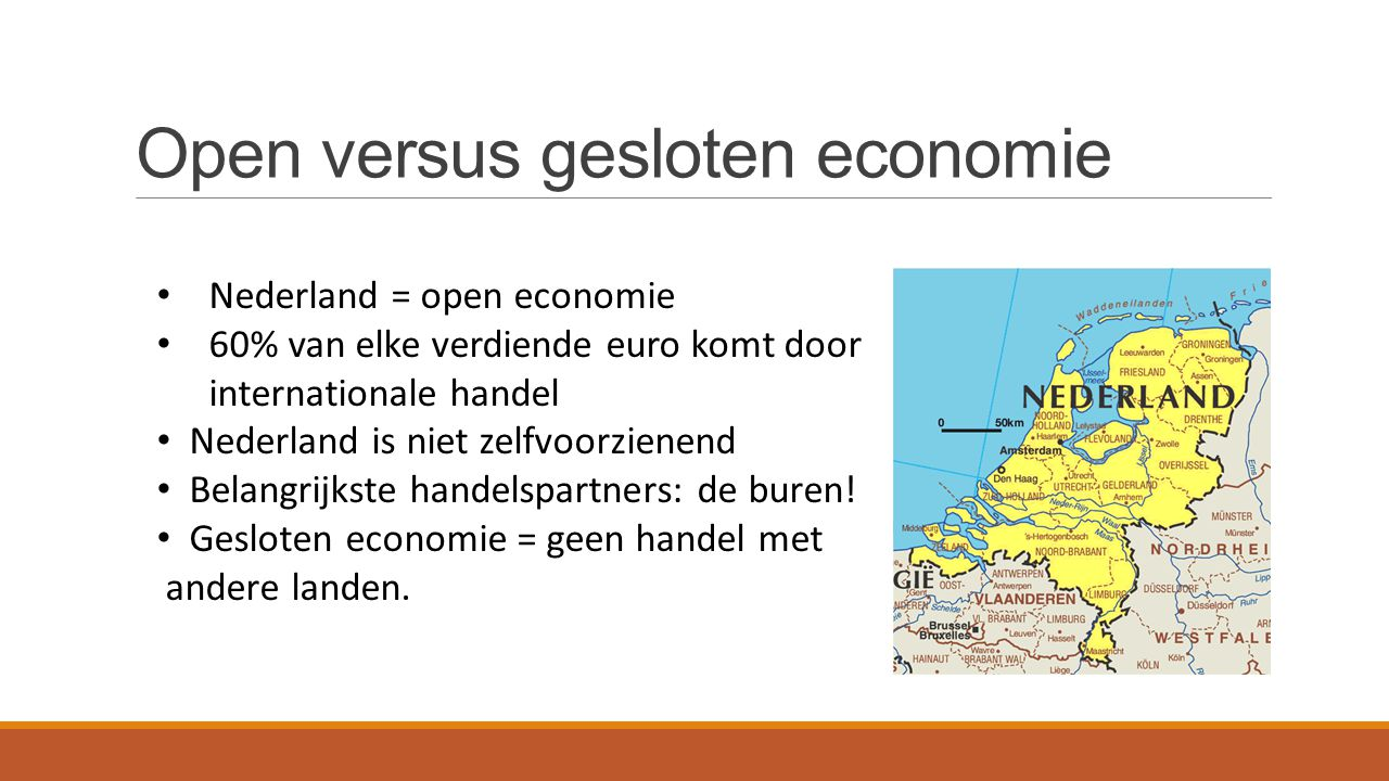 Open versus gesloten economie