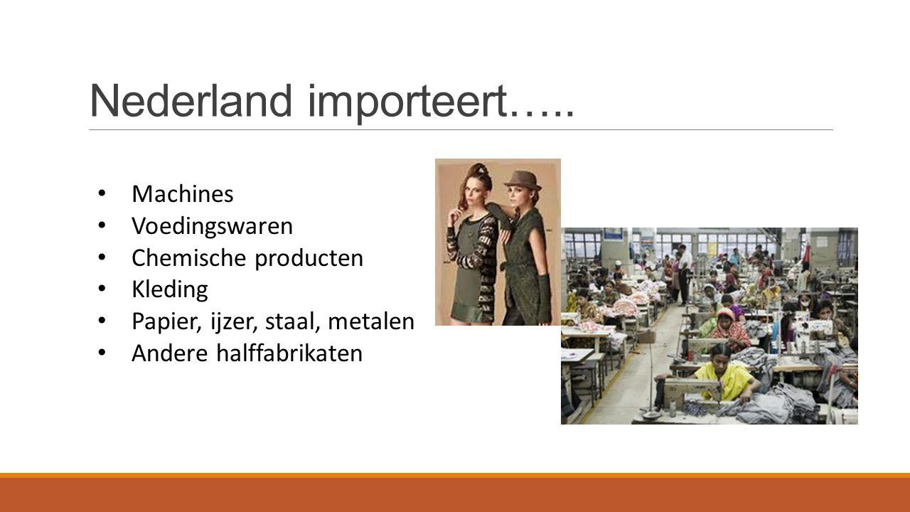 Nederland importeert…..