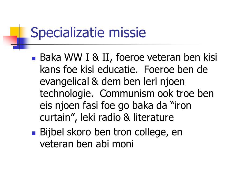 Specializatie missie