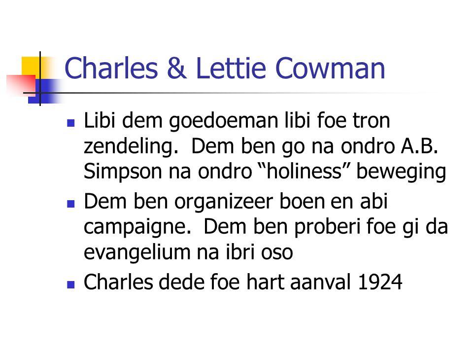 Charles & Lettie Cowman