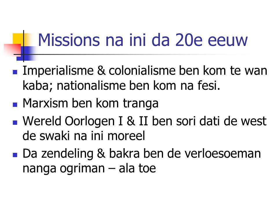 Missions na ini da 20e eeuw