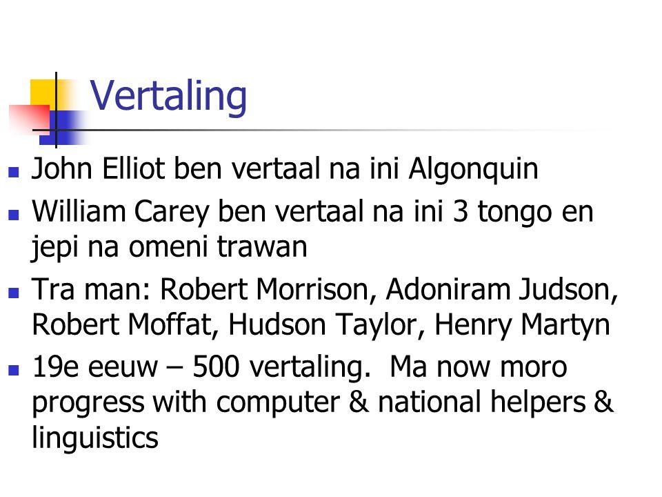 Vertaling John Elliot ben vertaal na ini Algonquin