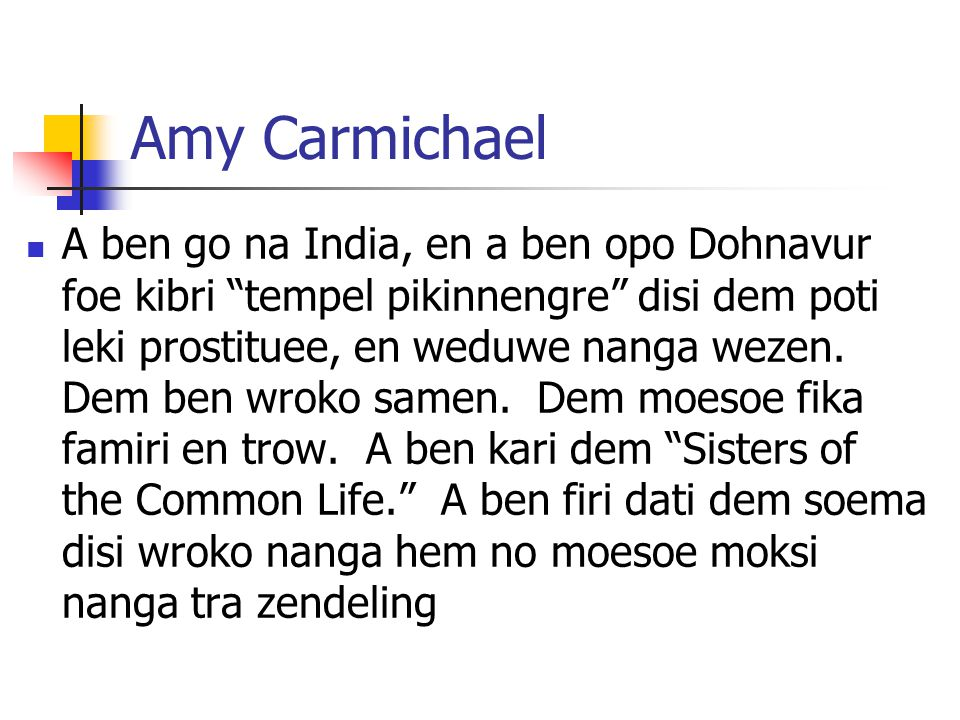Amy Carmichael