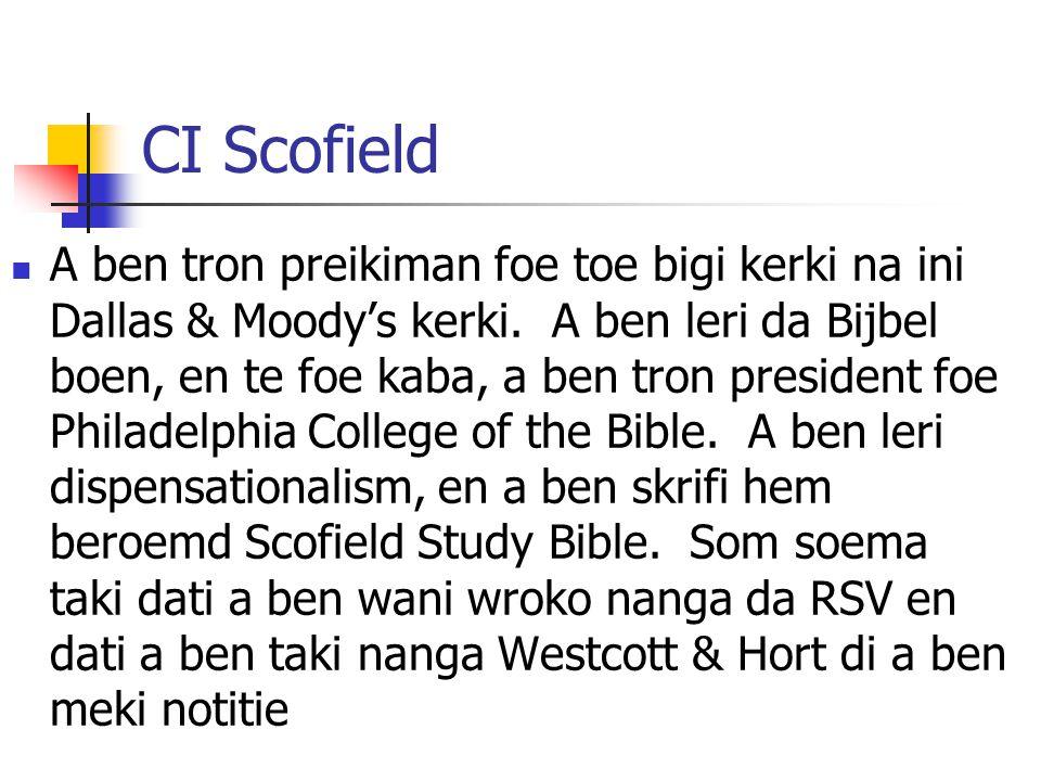 CI Scofield