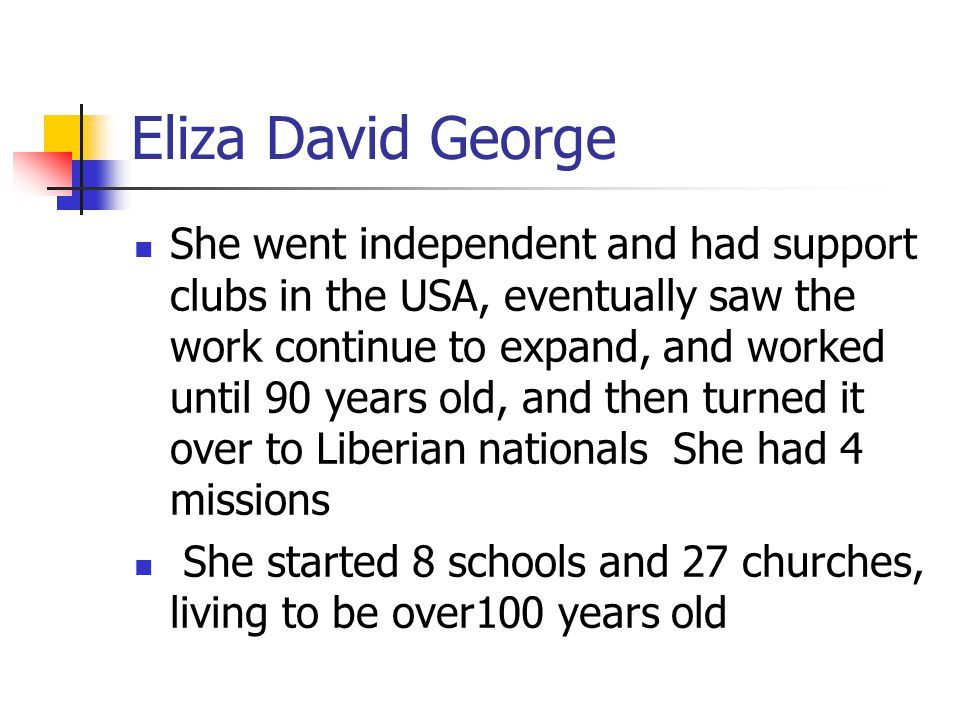 Module 9 Lesson 9 Eliza David George.