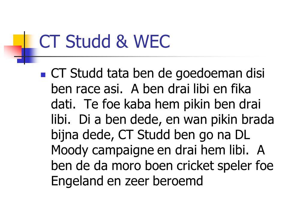 CT Studd & WEC