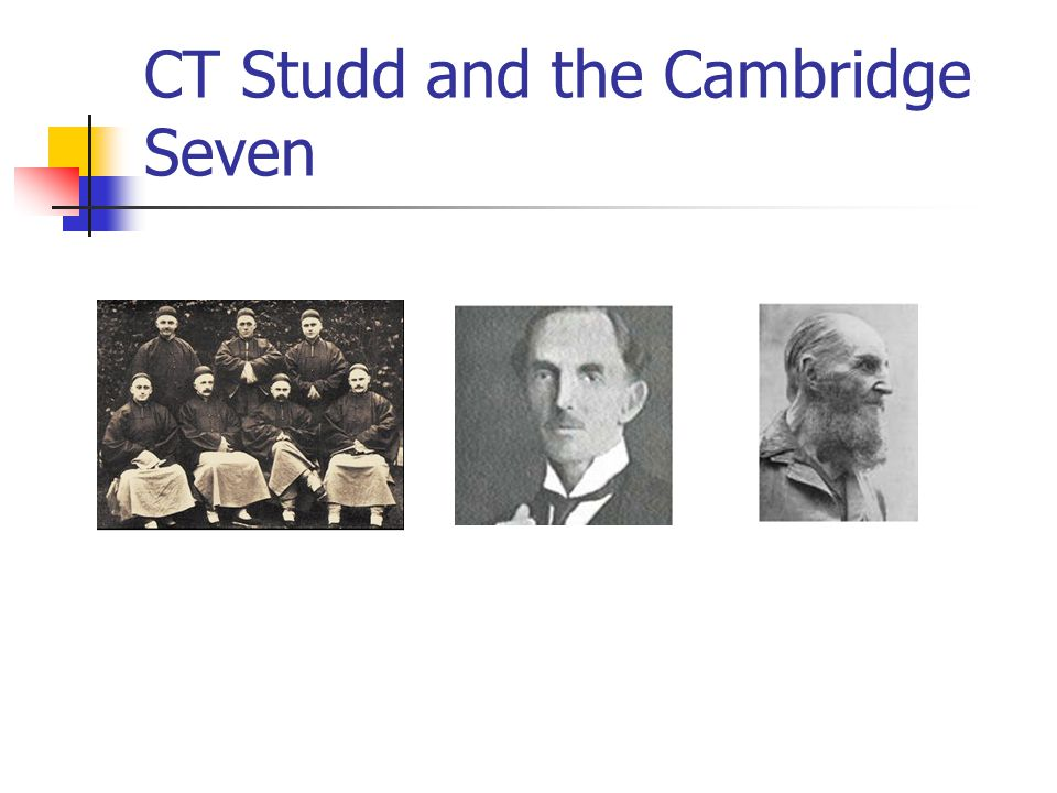 CT Studd and the Cambridge Seven