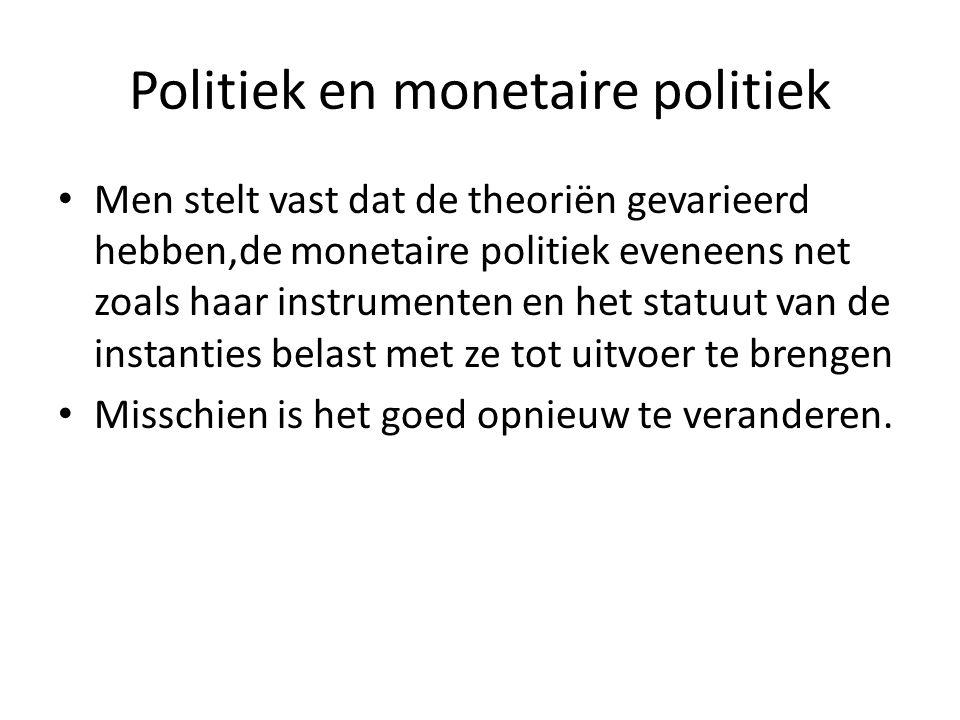 Politiek en monetaire politiek