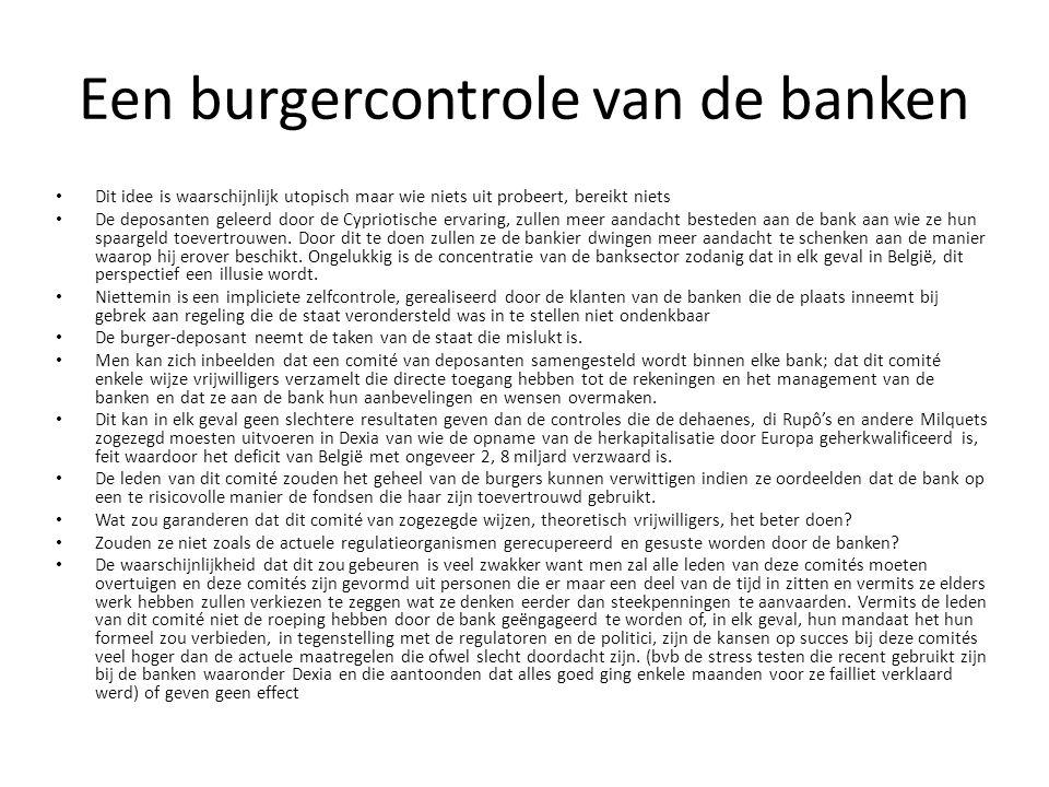 Een burgercontrole van de banken