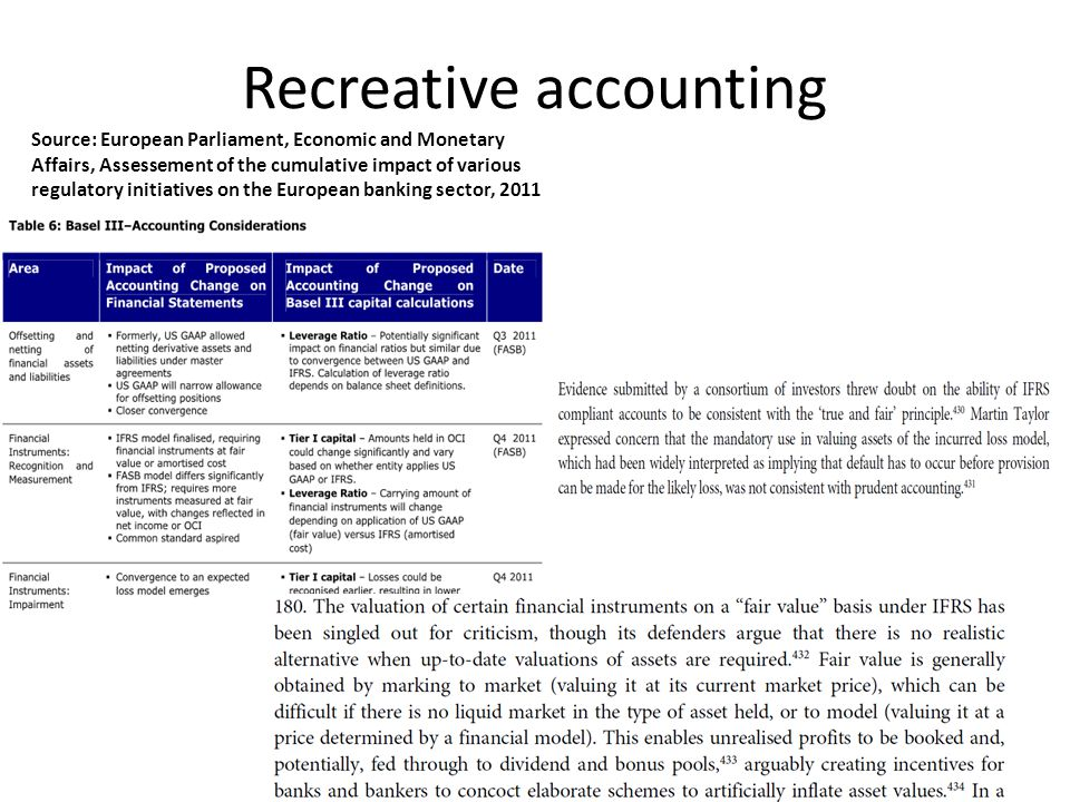 Recreative accounting