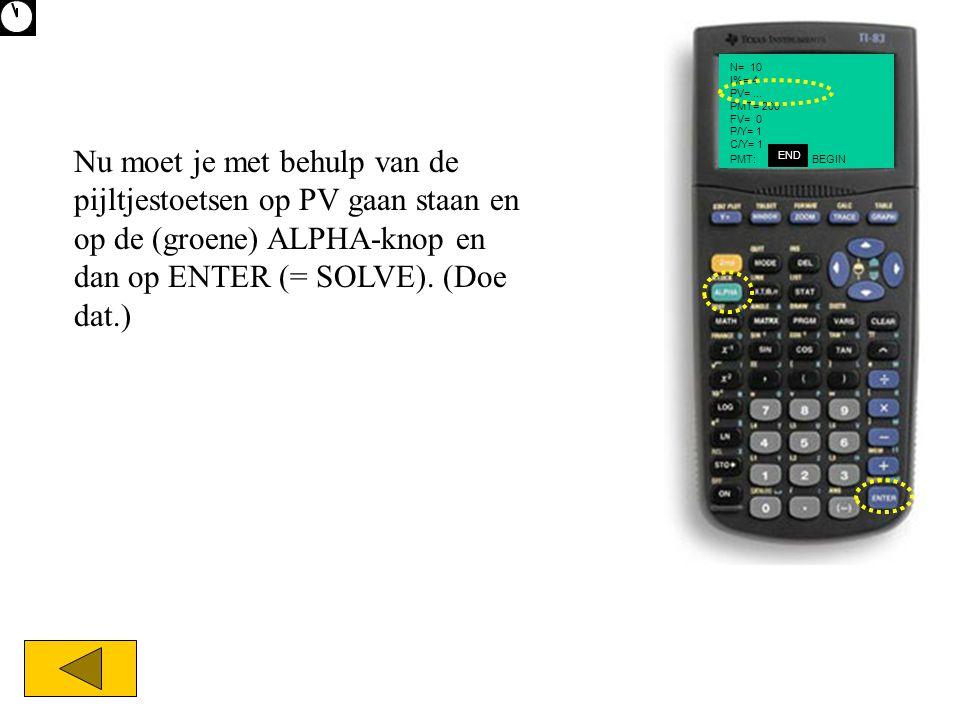 N= 10 I%= 4 PV= ... PMT= 200 FV= 0 P/Y= 1 C/Y= 1
