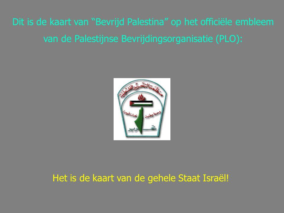 Dit is de kaart van Bevrijd Palestina op het officiële embleem