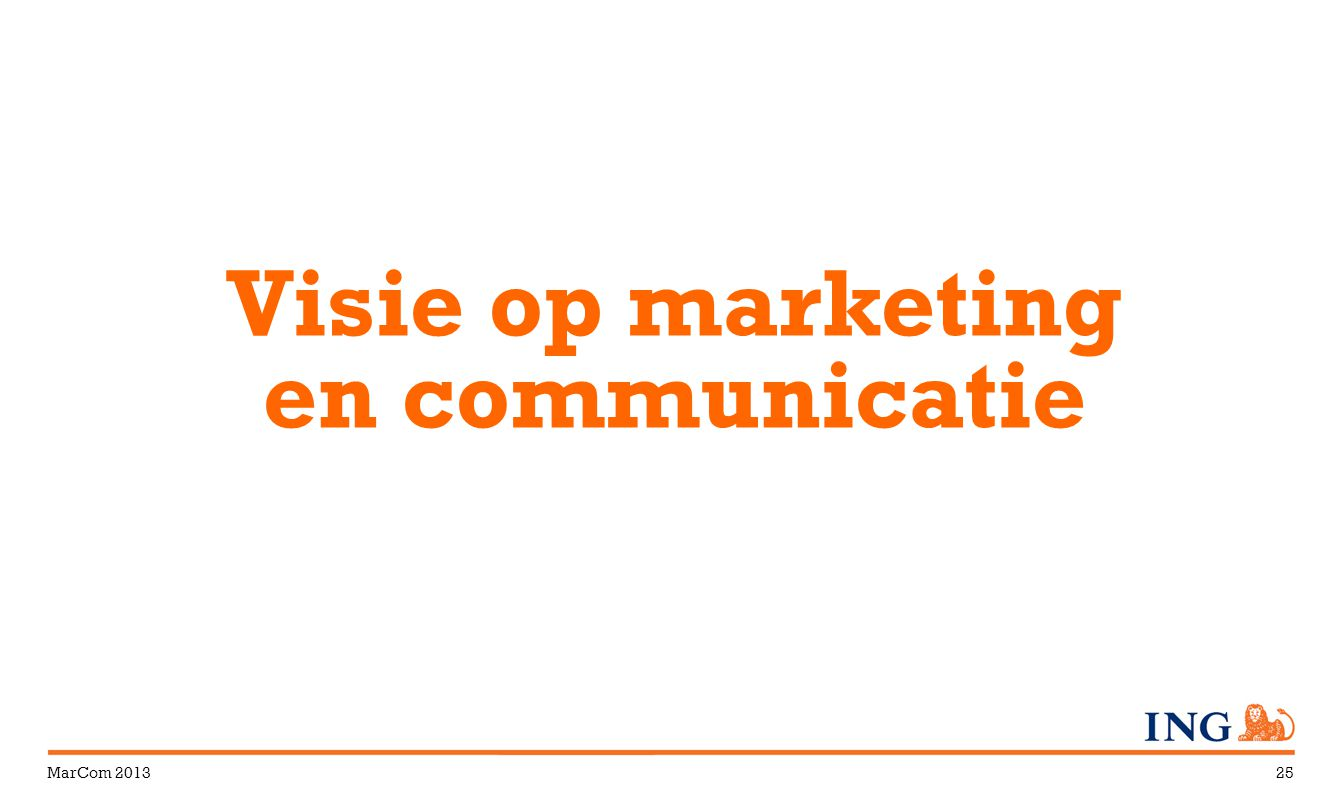 Visie op marketing en communicatie