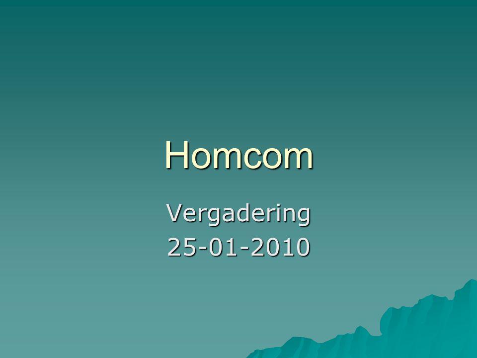 Homcom Vergadering 25-01-2010