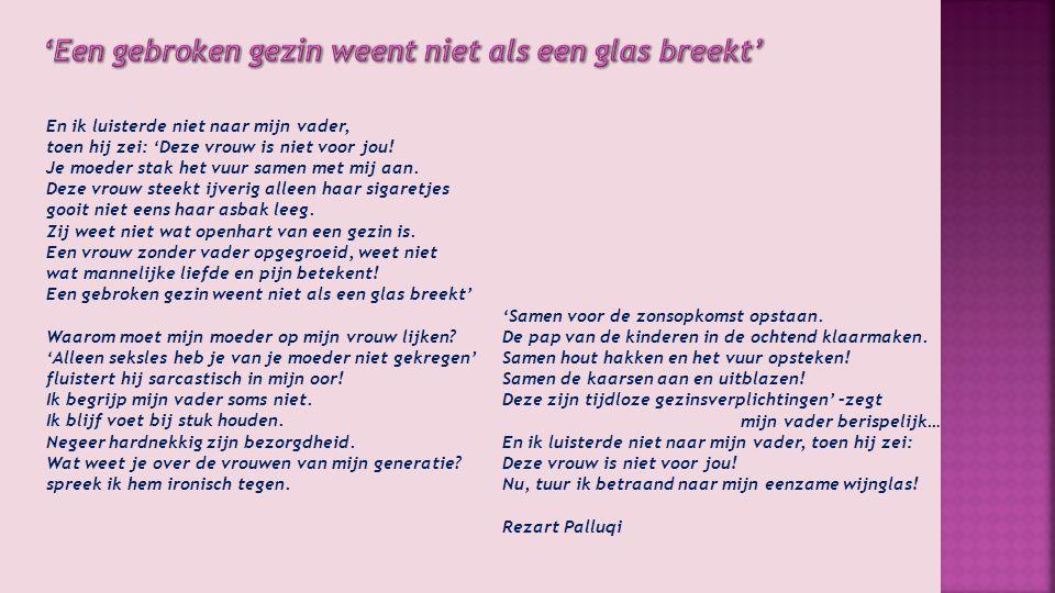 'Een gebroken gezin weent niet als een glas breekt'