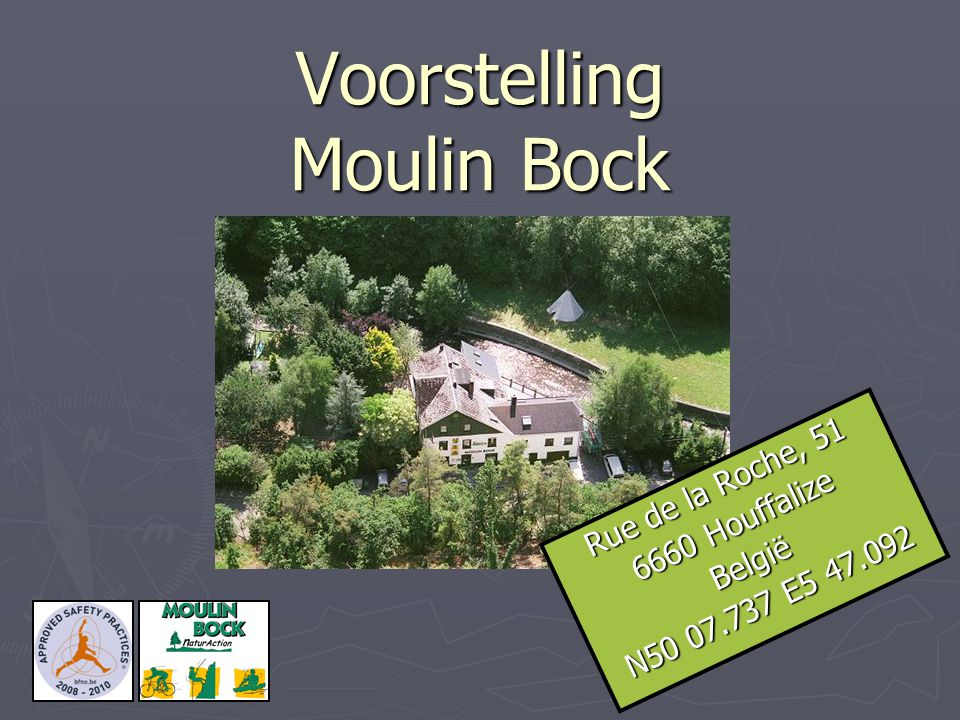 Voorstelling Moulin Bock