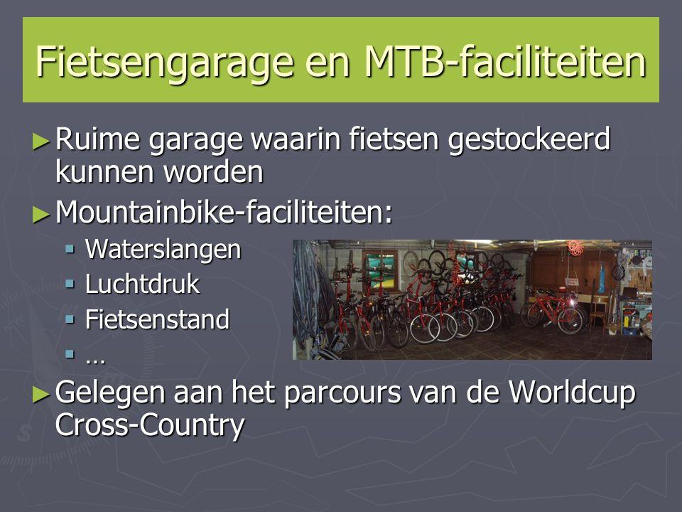 Fietsengarage en MTB-faciliteiten