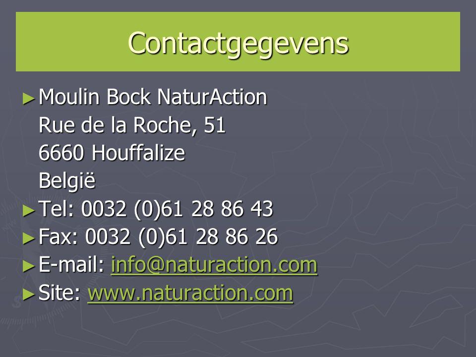 Contactgegevens Moulin Bock NaturAction Rue de la Roche, 51