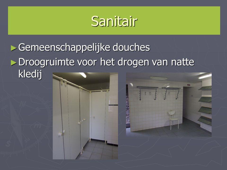 Sanitair Gemeenschappelijke douches