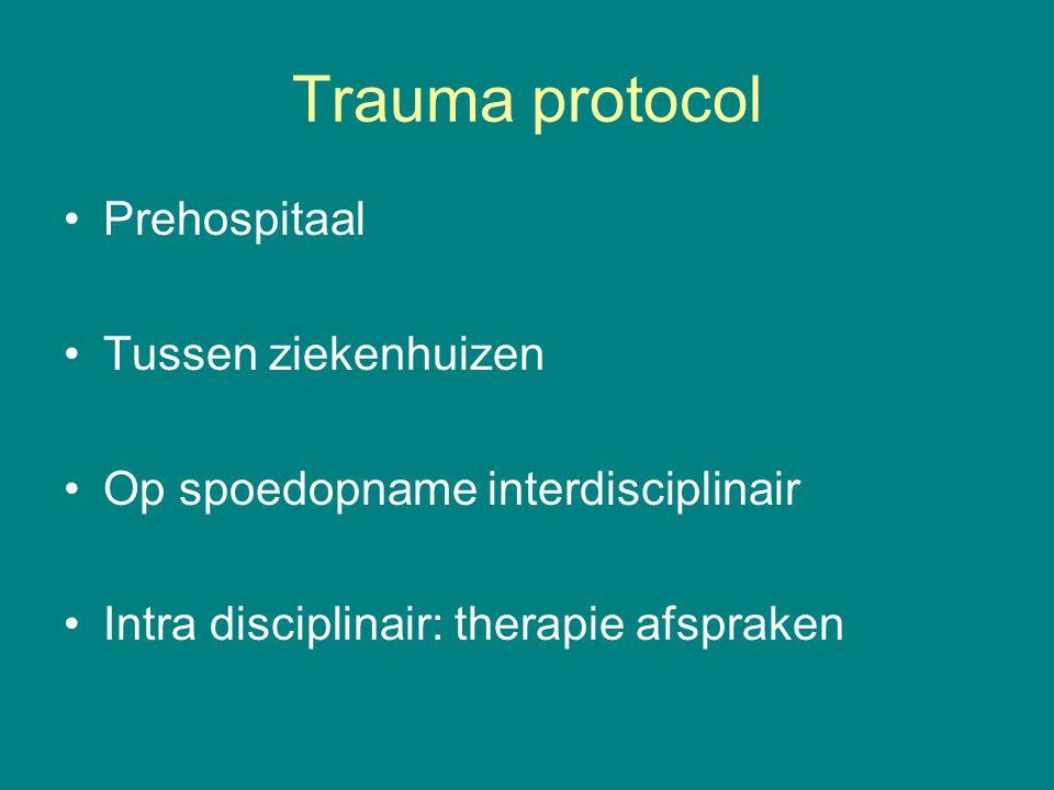 Trauma protocol Prehospitaal Tussen ziekenhuizen