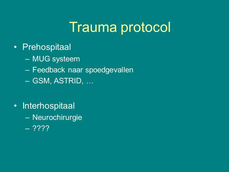 Trauma protocol Prehospitaal Interhospitaal MUG systeem