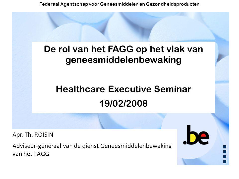 De rol van het FAGG op het vlak van geneesmiddelenbewaking