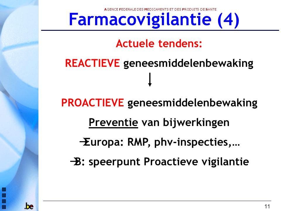 Farmacovigilantie (4) Actuele tendens: