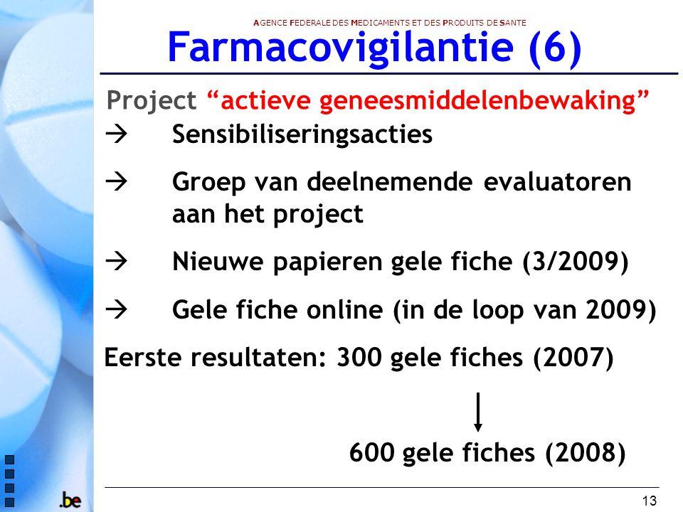 Farmacovigilantie (6) Project actieve geneesmiddelenbewaking