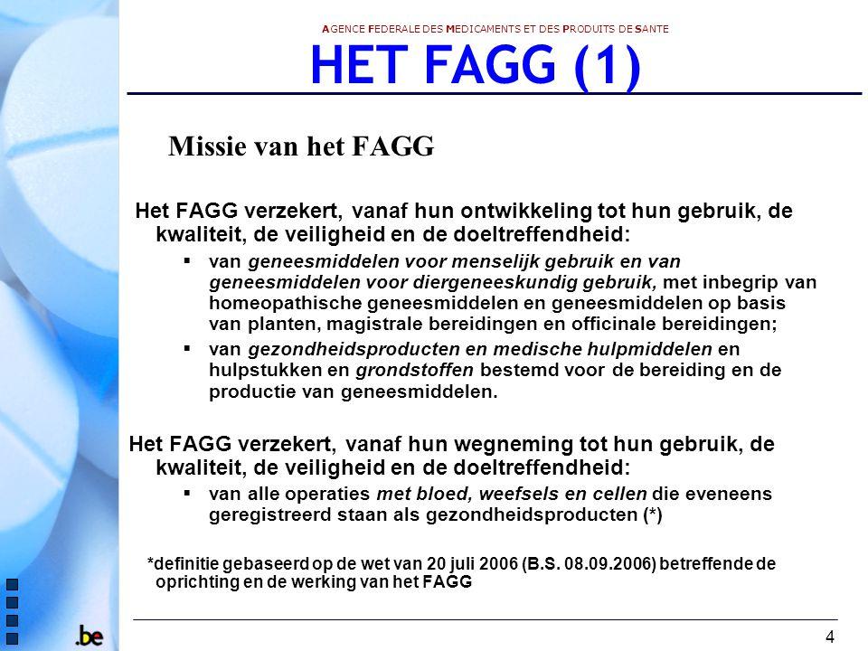 HET FAGG (1) Missie van het FAGG