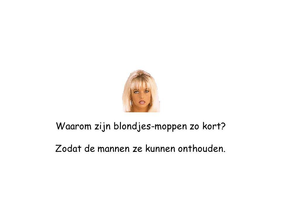 Waarom zijn blondjes-moppen zo kort